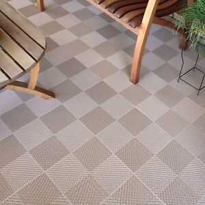 Image Is Loading DECK AND PATIO FLOOR TILES BEIGE Made In