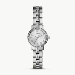 Bnew-FOSSIL-Shae-Mini-Three-Hand-Stainless-Steel-Watch-Silvertone