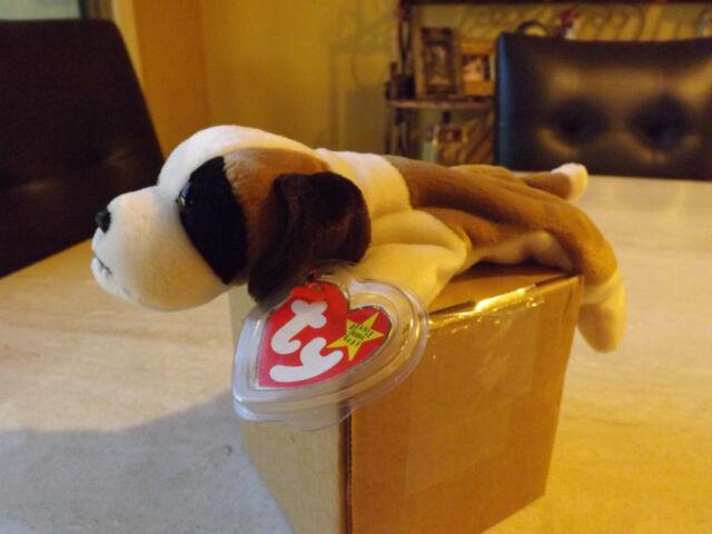 Ty Beanie Baby Bernie MWMT Dog