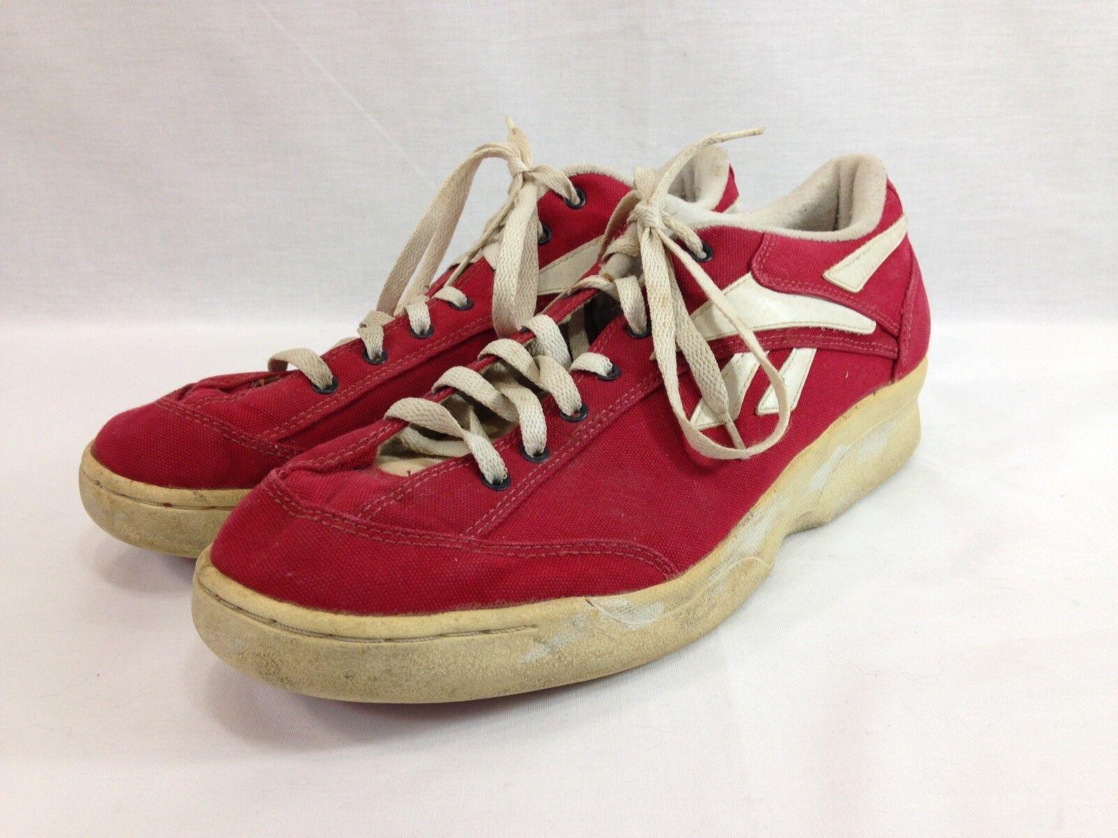 b43436b1 Vintage Reebok Clásico para hombre 12 rojo Canvas Low Top Con Cordones  Zapatos Tenis nthxpl4462-Zapatillas deportivas
