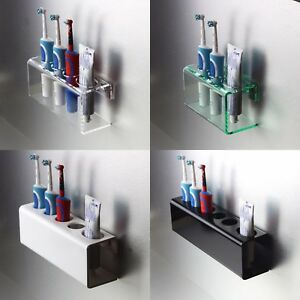 Wall-Mounted-Electric-Toothbrush-Holder-amp-Toothpaste-Holder-Bathroom-Organiser