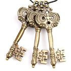 15pcs Lots Antique Bronze Charms Tone Keys Alloy Pendants Fit Jewelry Necklace J