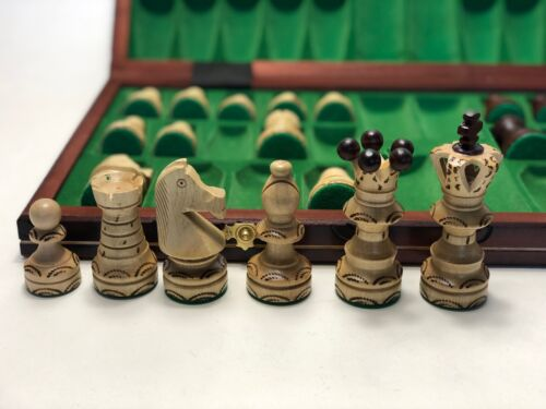 Chess Set Premium Hand Made Extra Large Wooden 54 x 54  Figures Woodeeworld