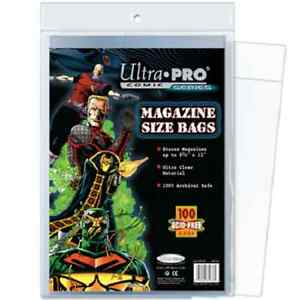 100-Ultra-Pro-Magazine-Storage-Bags-and-Boards-New-Factory-Sealed