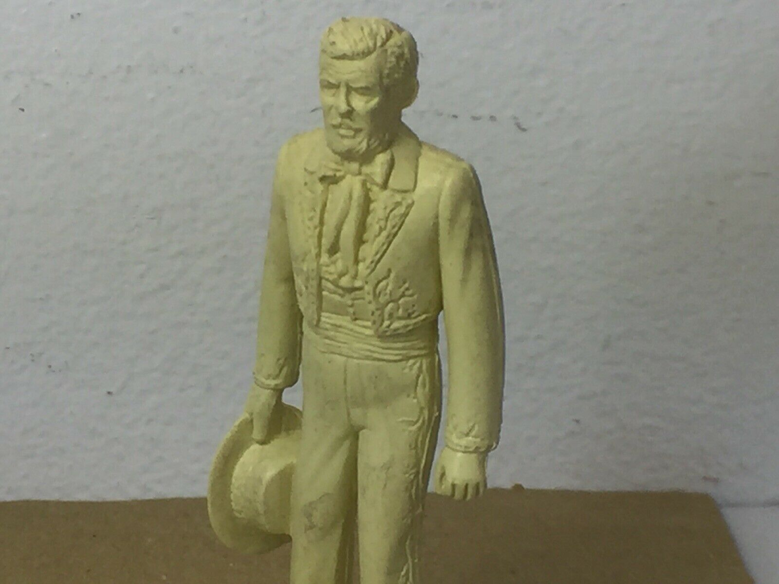 Marx Original Authentic Zorro Figure Don Alejandro Cream Cream 54mm Marked Figs Playse