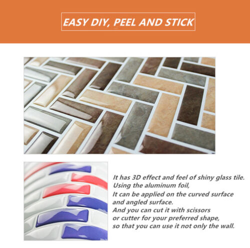 Grey Arabesque tile 3D Peel And Stick Self Adhesive Wall Sticker Home Decor