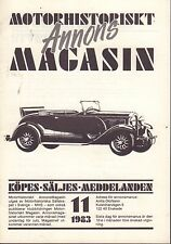 Motorhistoriskt Magasin Annons Swedish Car Magazine 11 1983 Dodge 032717nonDBE