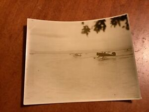 Original WWII Japanese Photo Of Military Float Planes / Seaplanes