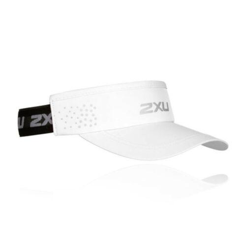 2XU Unisexe Performance Visière Blanc Sports Running Respirant