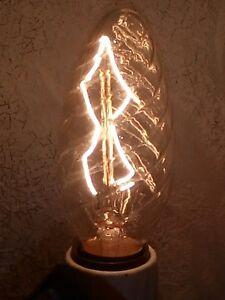 Ampoule-flamme-torsadee-filament-metallique-Zig-Zag-EDISON-SUDRON-40W-E14-NEUVE
