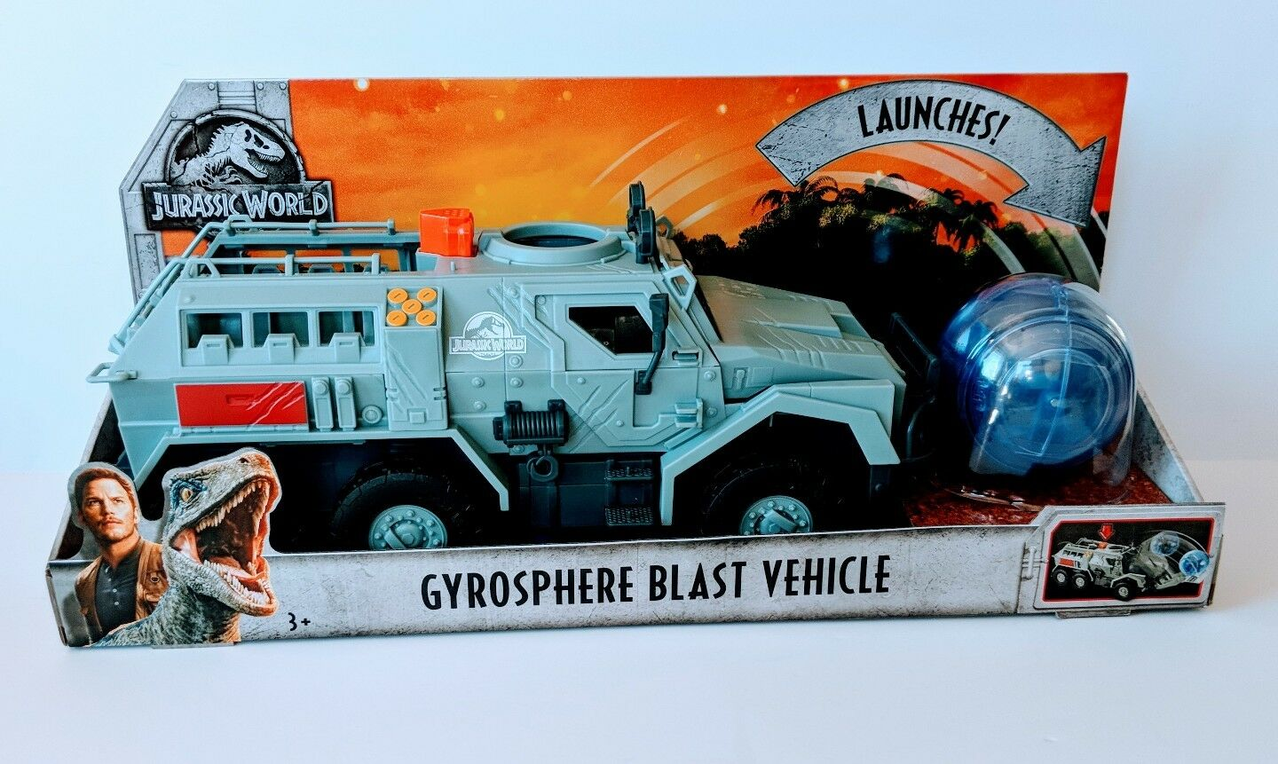 JURASSIC WORLD 2 FALLEN KINGDOM GYROSPHERE BLAST vehicle