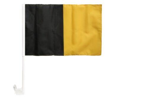 Schwarz-Gelb Autofahne Autoflagge Fahnen Auto Flaggen 30x40cm
