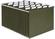 Hanging File Folders Letter Size Standard Green 15cut Adjustable Tab 25 Per Box
