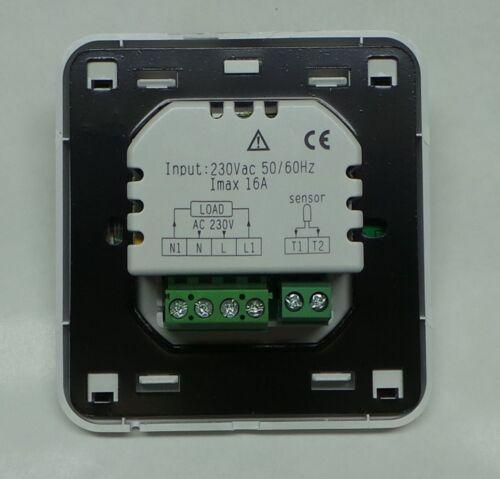 Digital Thermostat AUFPUTZ für Fussbodenheizung max 16A Wochenprogramm #z894ap