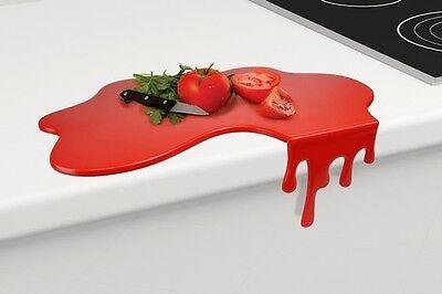 Splash Chopping Board Red Kitchen Utensil Gag Gift Novelty Cutting Dripping