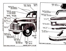 1942 1946 1947 1948 1949 1954 Chevrolet Truck Body Parts With Numbers Gmbk 4pgs