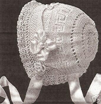 Vintage Antique Crochet PATTERN to make Baby Cap Hat Bonnet WeldonElsieBonnet
