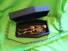 1/6 SCALE COFFIN OLD CREEPY CUSTOM WITH SKELETON SIDESHOW GAFF MINIATURE HORROR