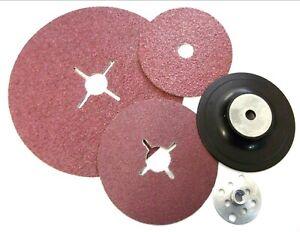 Abracs-poncage-disque-180-mm-fibre-Angle-Grinders-24-36-Grain-60-ou-Support-Pad