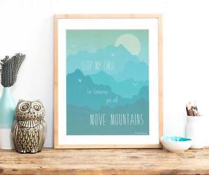 Wall-Art-Print-for-Boys-Modern-Nursery-Decor-Kid-039-s-Wall-Art-034-Move-Mountains-034