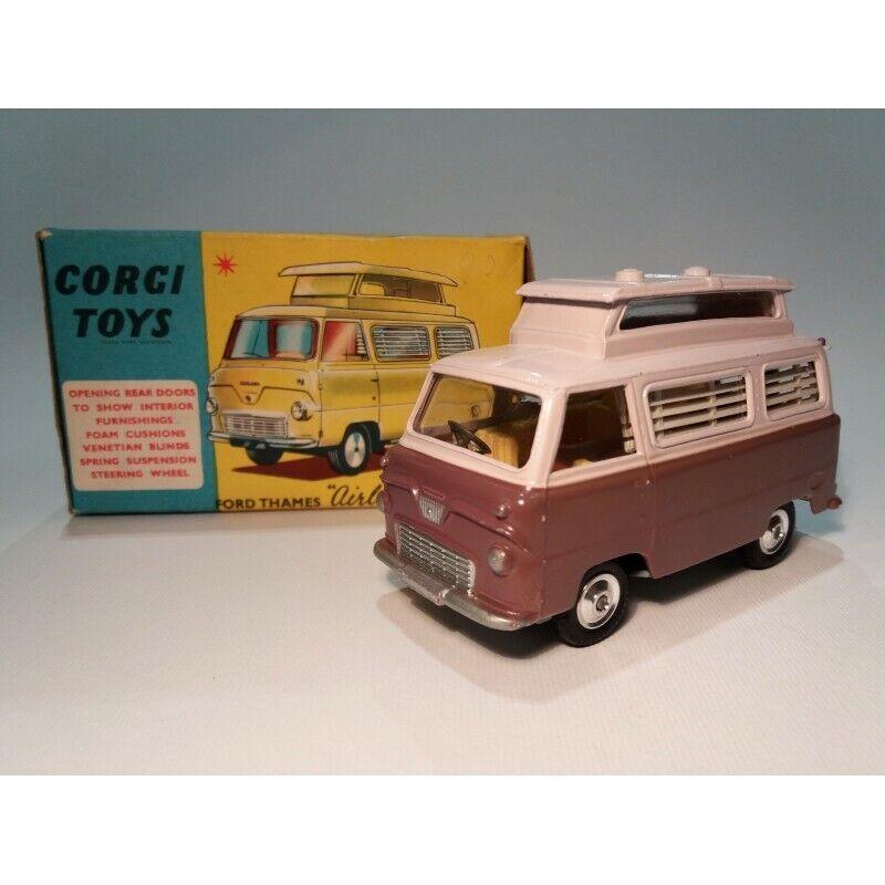 Corgi Toys 420   Ford Thames   Airborne   Caravane   Originelle Boîte (Année