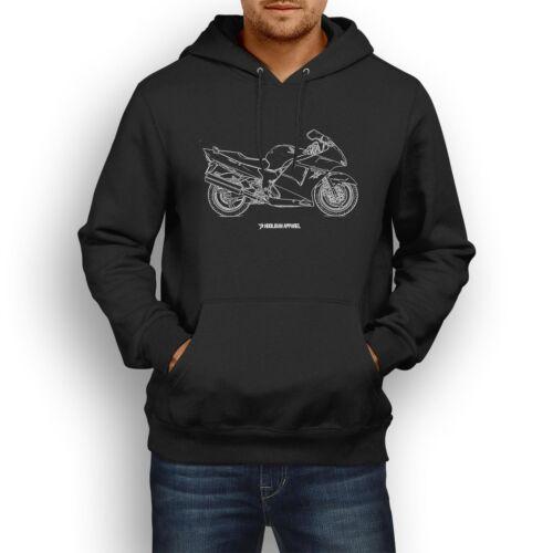 Honda CBR1100XX Blackbird 2001 inspiró el arte de la motocicleta para hombre con capucha