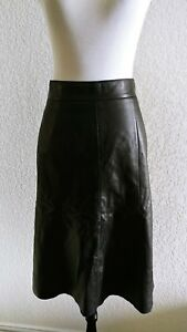 c645a2388 NORDSTROM Signature Black Sz 0 Fit-n-Flare Leather Skirt FASHION ...