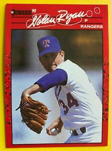 1990 NO Dot INC NOLAN RYAN 1/1 Donruss 3 ERRORS MINT Baseball Card #166 RARE mlb
