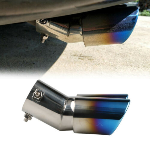 Stainless Steel Auto Car Rear Dual Exhaust Pipe Tail Muffler Tip Throat Tailpipe