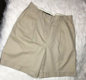 Brooks-Brothers-Advantage-Chino-Cotton-Shorts-Rolled-Hem-Women-Size-10