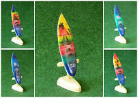 12 Cm Deko Surfboard Mit Holzständer Airbrush Surfer Bali Delfin Tempel Palmen