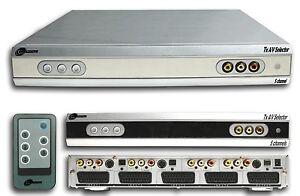 AV-Selector-selettore-audio-video-con-telecomando