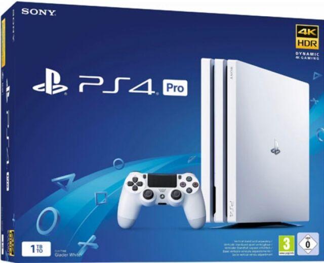 Sony PlayStation 4 Pro 1TB Konsole weiß (PS4) + Controller white - NEU OVP