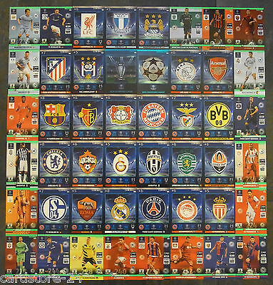 Adrenalyn XL Champions League 2014 2015 Club Badges Wappen Logo & Master 14 15