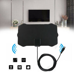 Clear Antenna TV Digital HDTV 300 Mile Range Indoor 1080P 4K 16ft Coax Cable