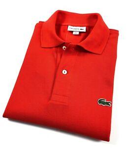 8689ac0a Details about Lacoste Polo Shirt Men's Classic Fit Red Cotton Pique L121200  CAD