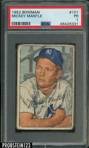 1952-Bowman-101-Mickey-Mantle-Yankees-RC-Rookie-HOF-PSA-1-Poor-034-ICONIC-CARD-034