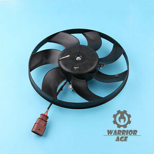 Radiator-Cooling-Fan-For-VW-Golf-Jetta-MK5-MK6-Passat-B6-B7-Eos-Caddy-Tiguan