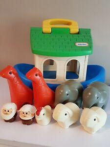 Noah-039-s-Ark-Little-Tikes-Vintage-With-Original-Animals-Noah-amp-Wife-Play-Set