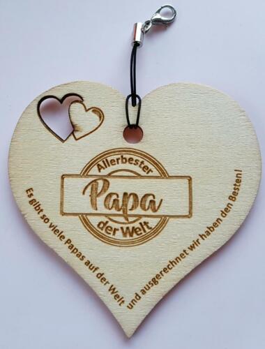 Holz Schild Herz Beste Papa MUTTERTAG Opa der Welt Oma Mama r