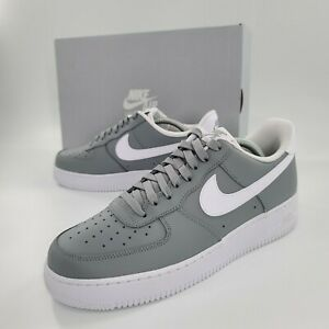 Nike-Air-Force-1-Low-Wolf-Grey-White-Men-039-s-Size-9-5-CK7803-001-Sneakers-NEW