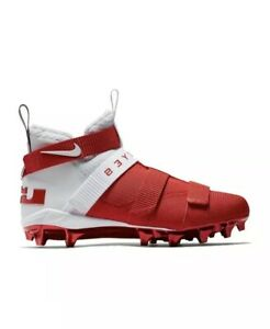 7c0d76dc235 Nike Lebron Soldier 11 TD Football Cleats Ohio State Buckeyes Men s ...