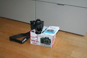 Fotocamera-Canon-EOS-400D-reflex-digitale-obiettivo-18-55-scatola-memoria