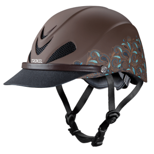 Troxel Riding Helmet Dakota Turquoise Paisley Horse Safety low Profile Stor