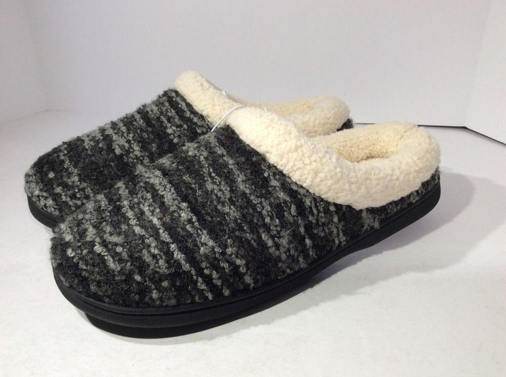 Dearfoams Women's Memory Foam Indoor Outdoor Soles Washable Slippers Variety