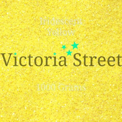"Victoria Street Glitter Lemon Minion Fine 0.008/"" // 0.2mm Iridescent Yellow"
