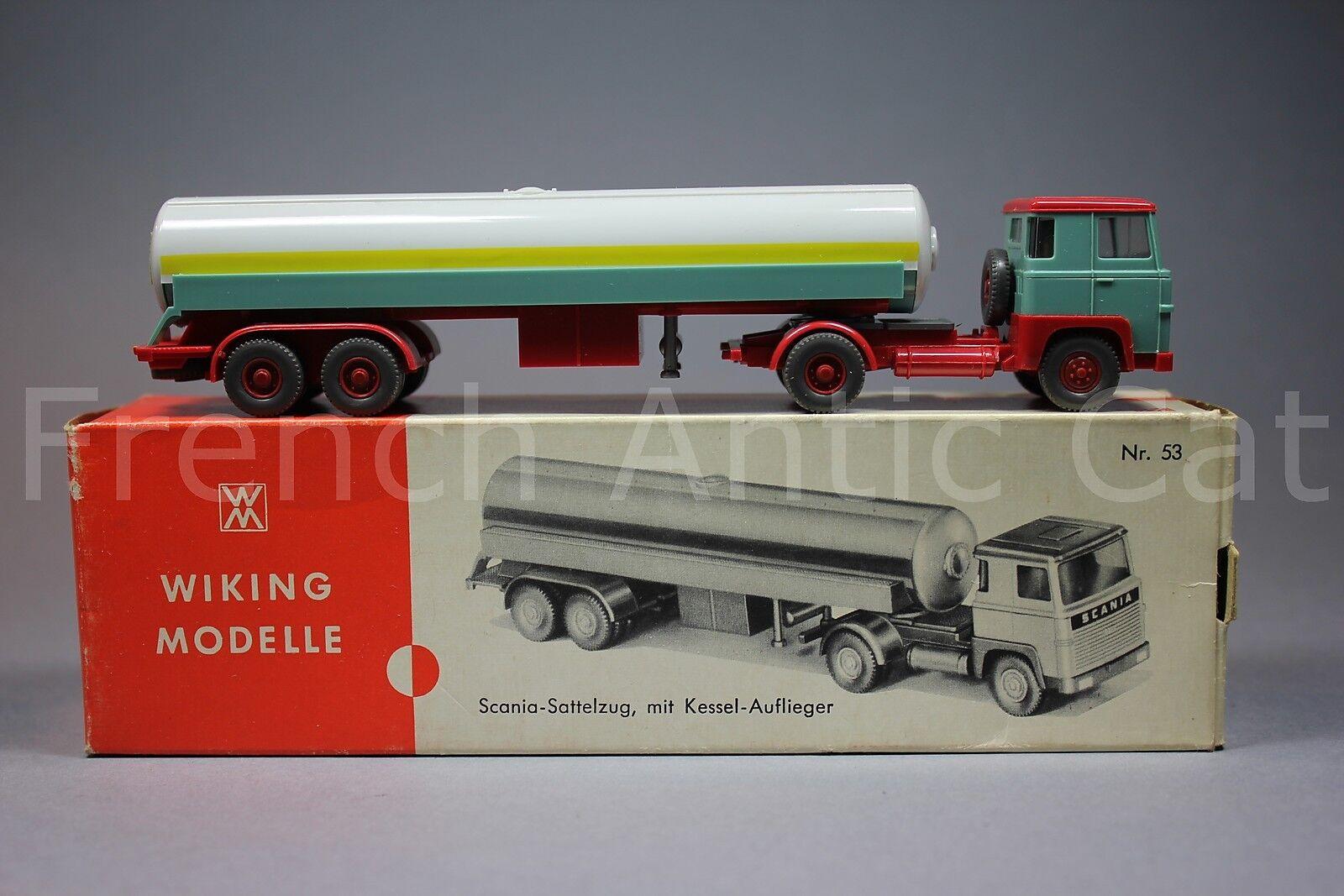 U538 Wiking Modelllle scania 110 sattelzug Ho 53 Frigen camion citerne GPL 1971