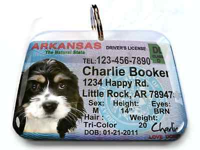 Georgia vanity drivers license dog cat custom novelty tag for pets by ID4PET