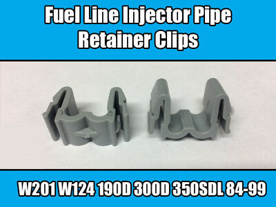 5x Clips For Mercedes Fuel Line Injector Pipe Retainer Grey Plastic 6030780141