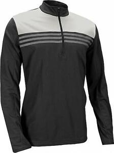 Details about Adidas Climacool Colorblock 1/4 Zip Golf Pullover (M) Black AE8787
